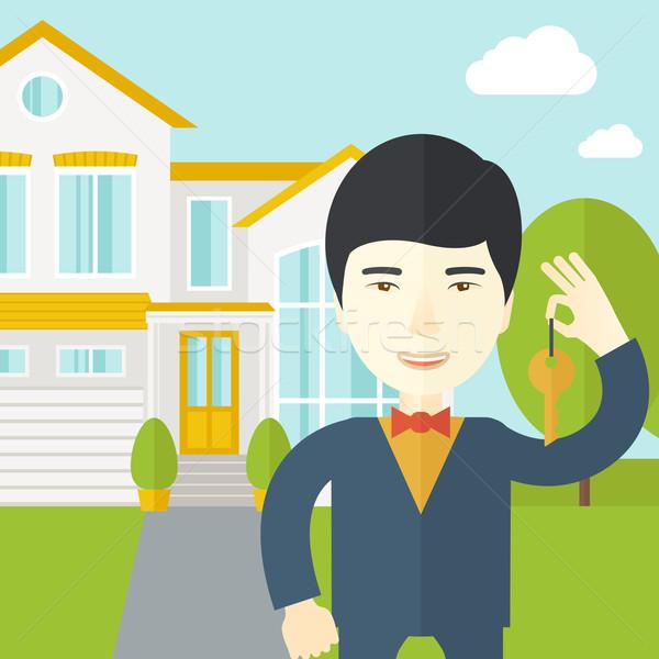 Asiático chave casa vetor Foto stock © RAStudio