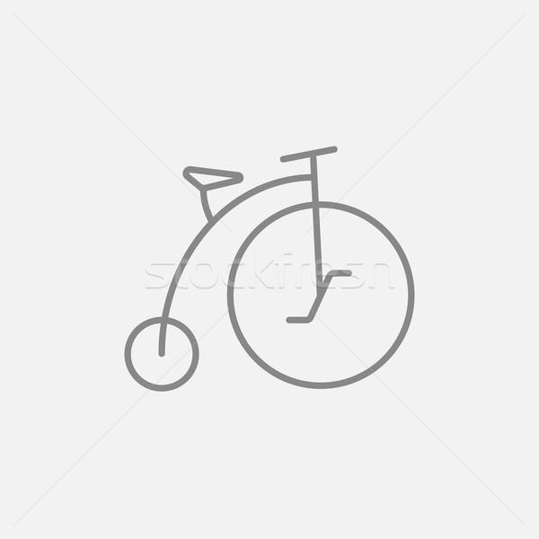 古い 自転車 ビッグ ホイール 行 アイコン ストックフォト © RAStudio