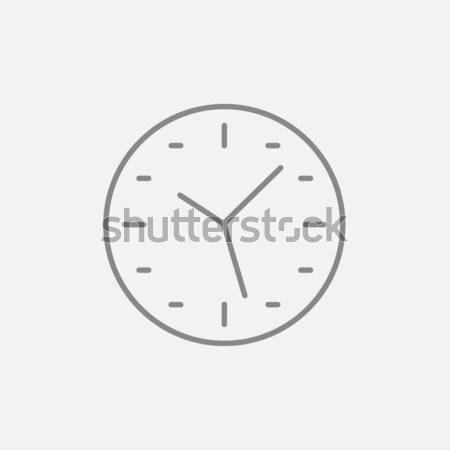 Wall clock line icon. Stock photo © RAStudio