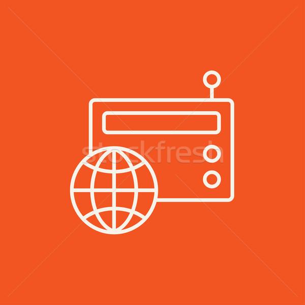 Retro radio line icon. Stock photo © RAStudio