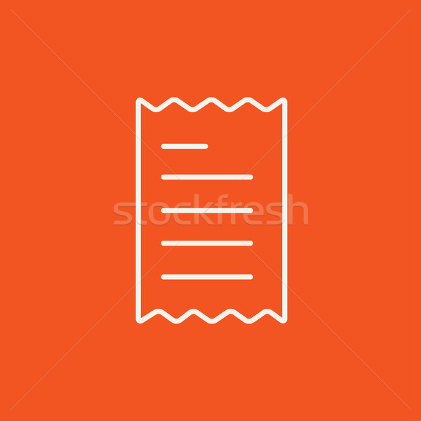 Receipt line icon. Stock photo © RAStudio