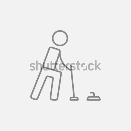 Stock photo: Curling line icon.
