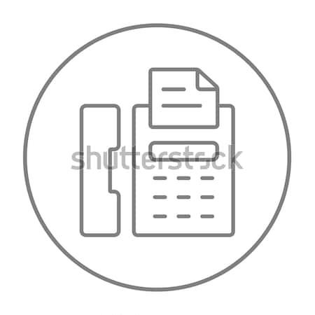 Faxgép vonal ikon háló mobil infografika Stock fotó © RAStudio
