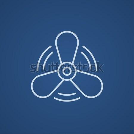 Boat propeller line icon. Stock photo © RAStudio
