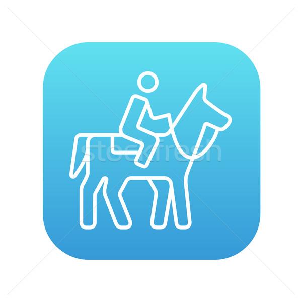 Horse riding line icon. Stock photo © RAStudio