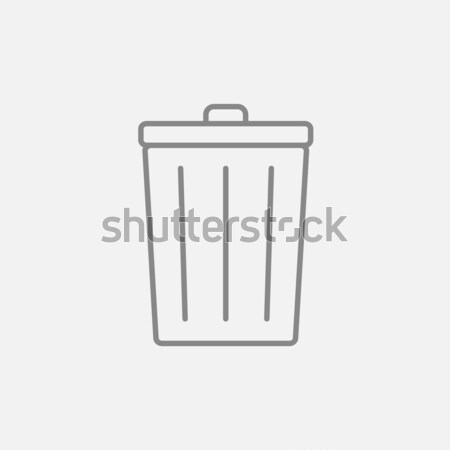 Cesto de lixo linha ícone teia móvel infográficos Foto stock © RAStudio