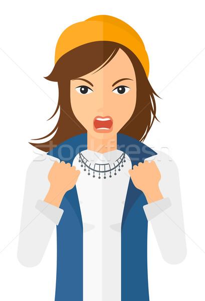 Raging woman screaming. Stock photo © RAStudio
