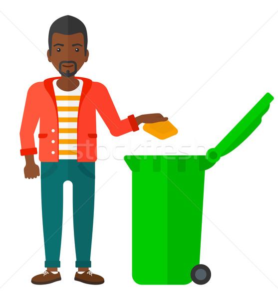 Man throwing trash. Stock photo © RAStudio