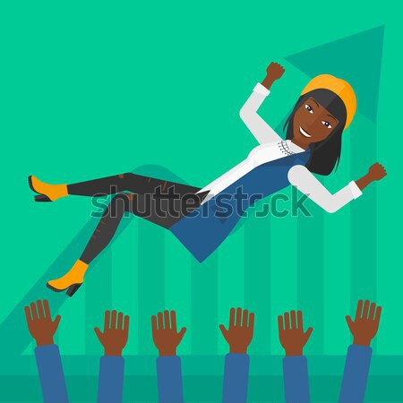 Successful business woman during celebration. Stock photo © RAStudio
