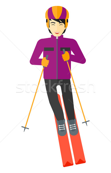 Young man skiing. Stock photo © RAStudio