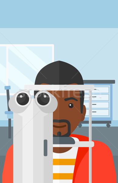 Hasta göz doktoru adam göz muayenesi tıbbi ofis Stok fotoğraf © RAStudio