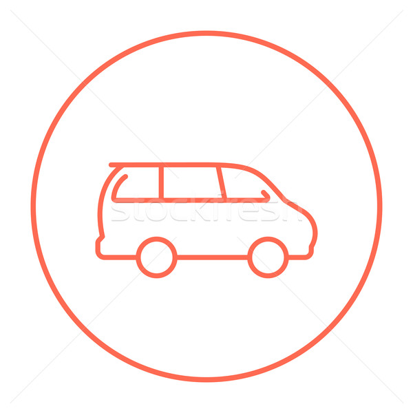 Minivan line icon. Stock photo © RAStudio