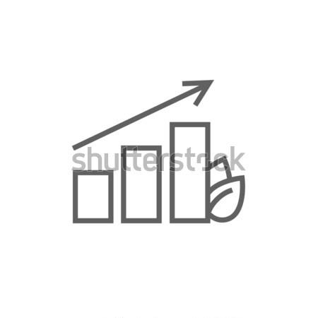 Gráfico de barras hoja línea icono esquinas web Foto stock © RAStudio