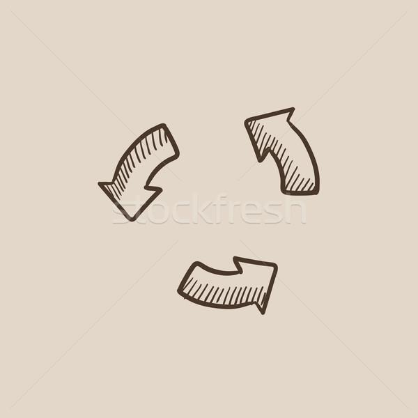 Replay button sketch icon. Stock photo © RAStudio