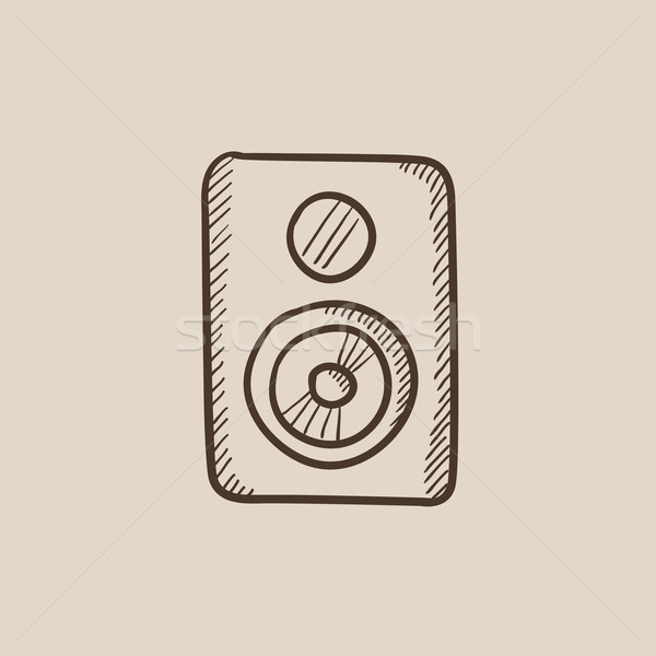 Mp3-speler schets icon web mobiele infographics Stockfoto © RAStudio