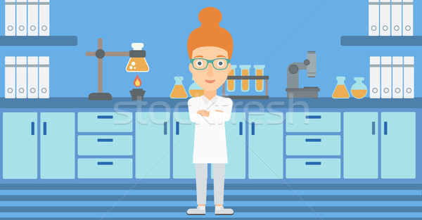 Female laboratory assistant. Stock photo © RAStudio