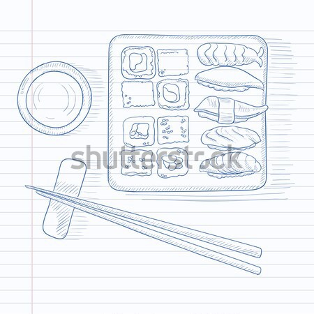 Various kinds of sushi. Stock photo © RAStudio