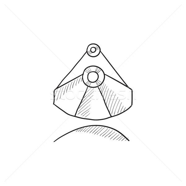 Mining industrial scoop sketch icon. Stock photo © RAStudio