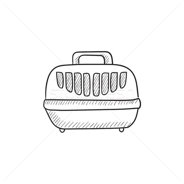 Pet carrier box sketch icon. Stock photo © RAStudio
