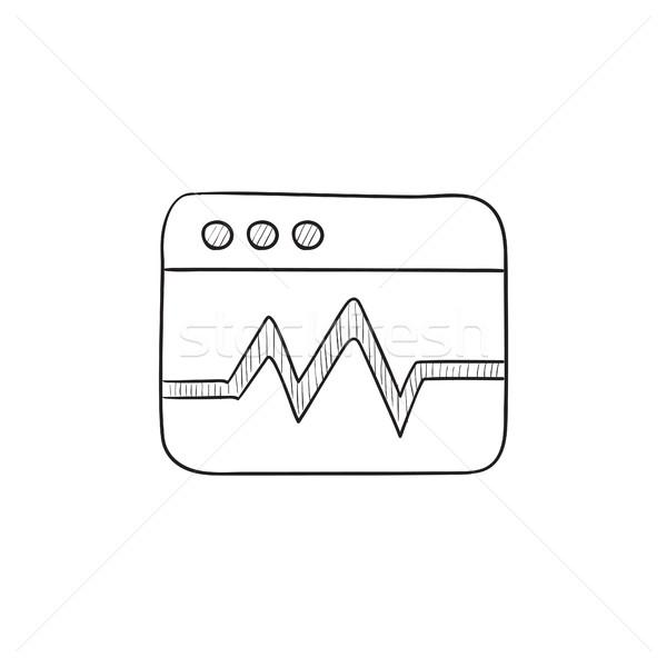 Web analitik bilgi kroki ikon vektör Stok fotoğraf © RAStudio