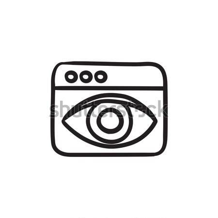 Searching sketch icon. Stock photo © RAStudio