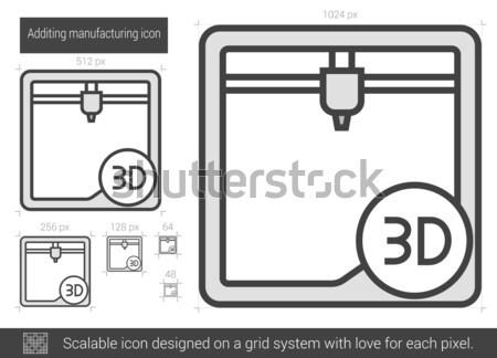 Additing manufacturing line icon. Stock photo © RAStudio