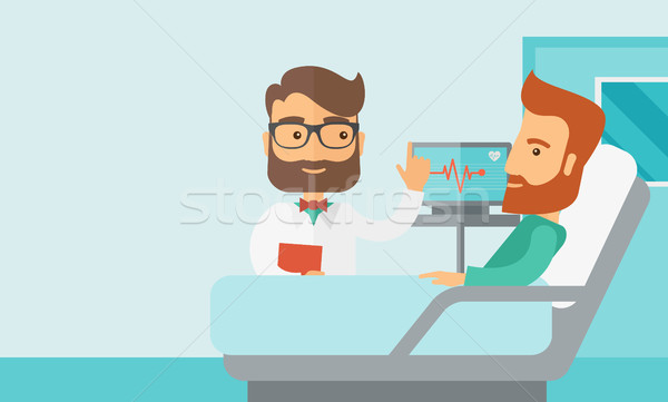 Patient being treated by a doctor. Stock photo © RAStudio