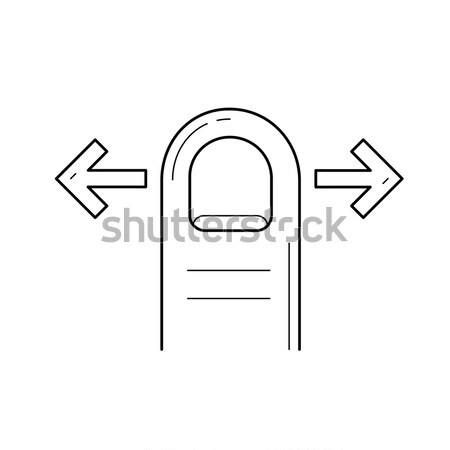 Drag right line icon. Stock photo © RAStudio
