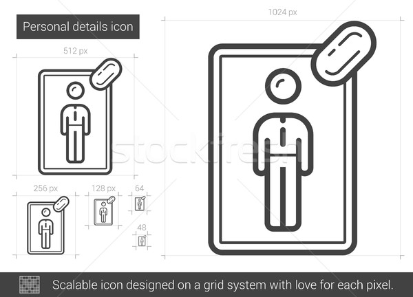 Personal details line icon. Stock photo © RAStudio