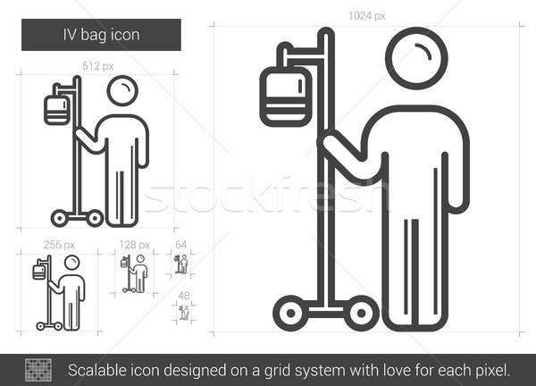 Stock photo: IV bag line icon.