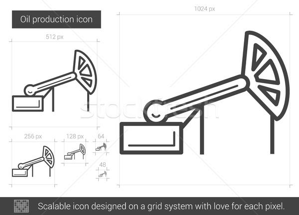 Stockfoto: Olie · productie · lijn · icon · vector · geïsoleerd
