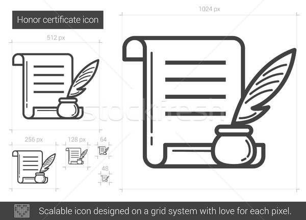 Honor certificate line icon. Stock photo © RAStudio
