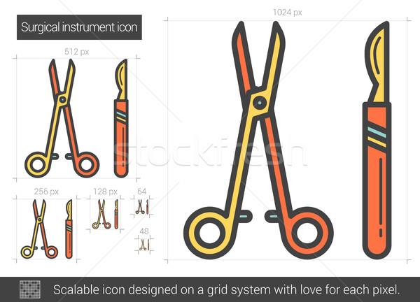 Surgical instruments line icon. Stock photo © RAStudio