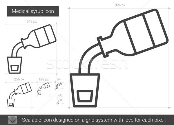 Medical syrup line icon. Stock photo © RAStudio
