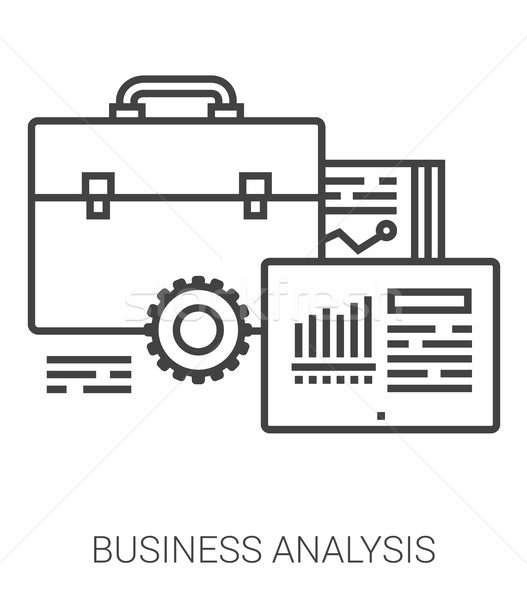 Business analysis line infographic. Stock photo © RAStudio