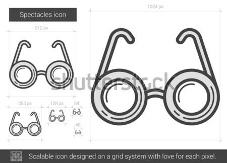 Gafas línea icono vector aislado blanco Foto stock © RAStudio