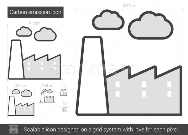 Carbon emission line icon. Stock photo © RAStudio