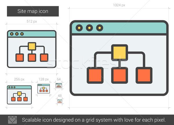 Site map line icon. Stock photo © RAStudio