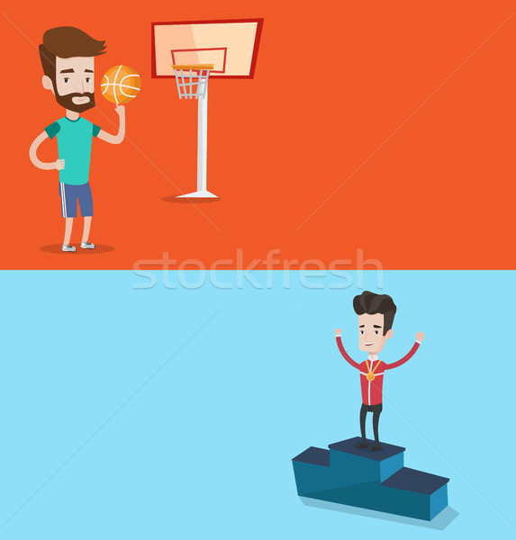 Two sport banners with space for text. Stock photo © RAStudio