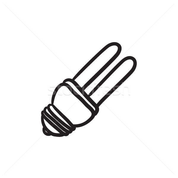 Energy saving light bulb sketch icon. Stock photo © RAStudio