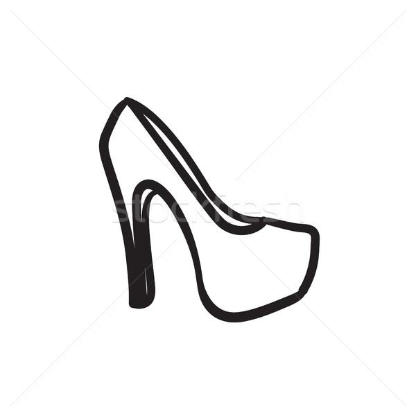 High heel shoe sketch icon. Stock photo © RAStudio