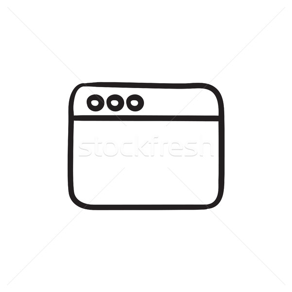 Ablak internet böngésző rajz ikon vektor Stock fotó © RAStudio