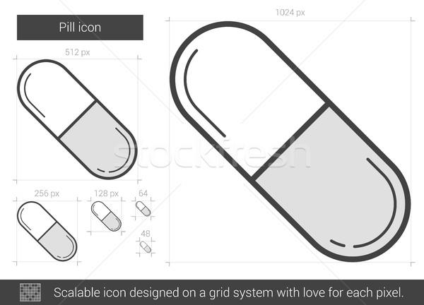 Pill line icon. Stock photo © RAStudio