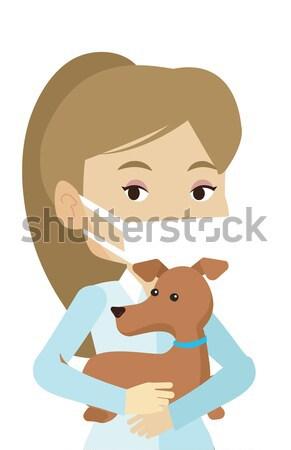 ветеринар собака рук молодые кавказский Сток-фото © RAStudio