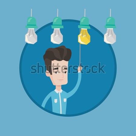 Man having business idea vector illustration. Stock photo © RAStudio