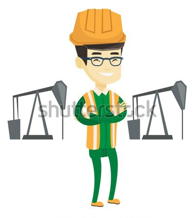 Cnfident oil worker vector illustration. Stock photo © RAStudio
