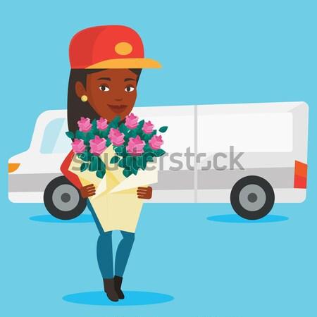 配信 クーリエ 花束 花 配達用トラック ストックフォト © RAStudio