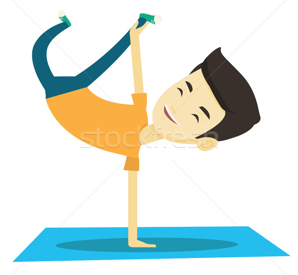 Young man breakdancing vector illustration. Stock photo © RAStudio