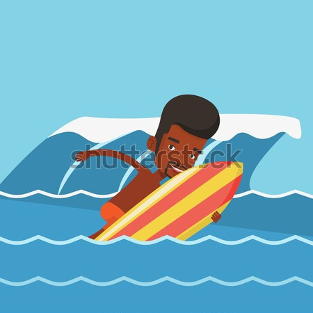 Business man sinking and asking for help. Stock photo © RAStudio