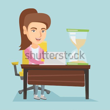 Business woman working in office. Stock photo © RAStudio